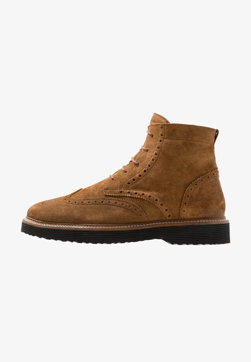 Marc O'Polo - Lace-up ankle boots - cognac