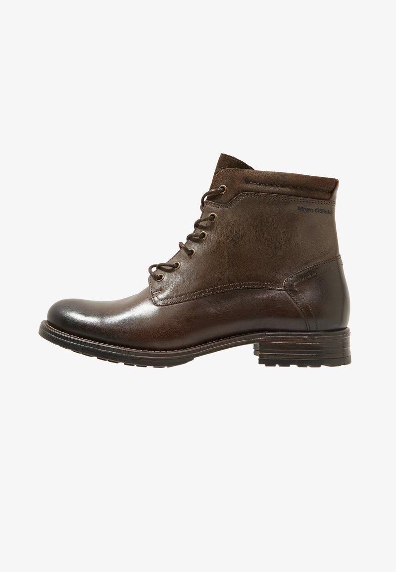 Marc O'Polo - Šněrovací kotníkové boty - dark brown