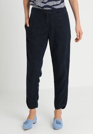 PANTS NORMAL WAIST STRAIGHT LEG - Trousers - blue black