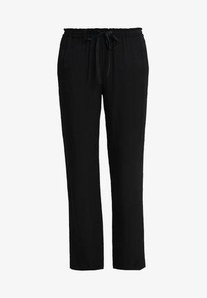 PANTS MEDIUM RISE  ANKLE LENGTH - Pantaloni - black