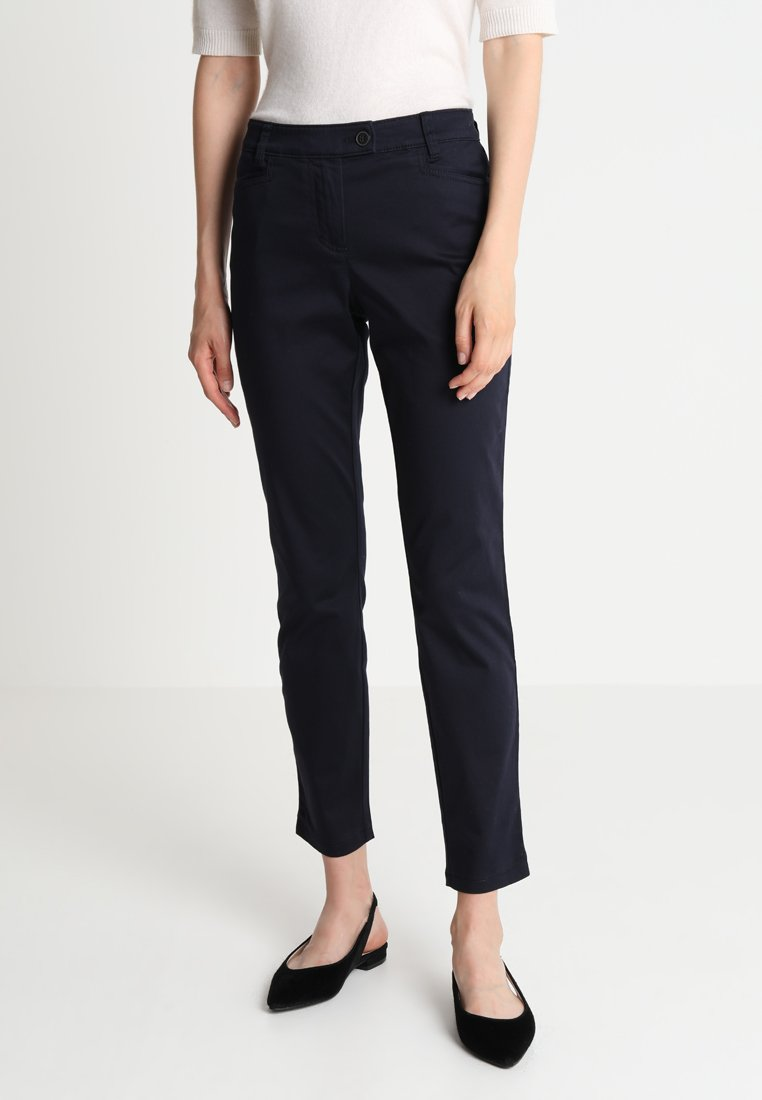 Marc O'Polo - PANTS FIT LAXA CASUAL - Trousers - thunder blue