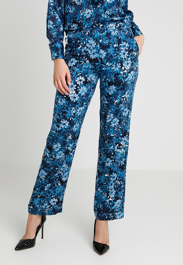 PANT STRAIGHT LEG PRINTED - Bukser - mottled blue