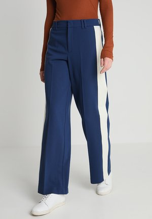 PANTS WIDE LEG COLOUR BLOCK INSER - Kalhoty - tinted ink