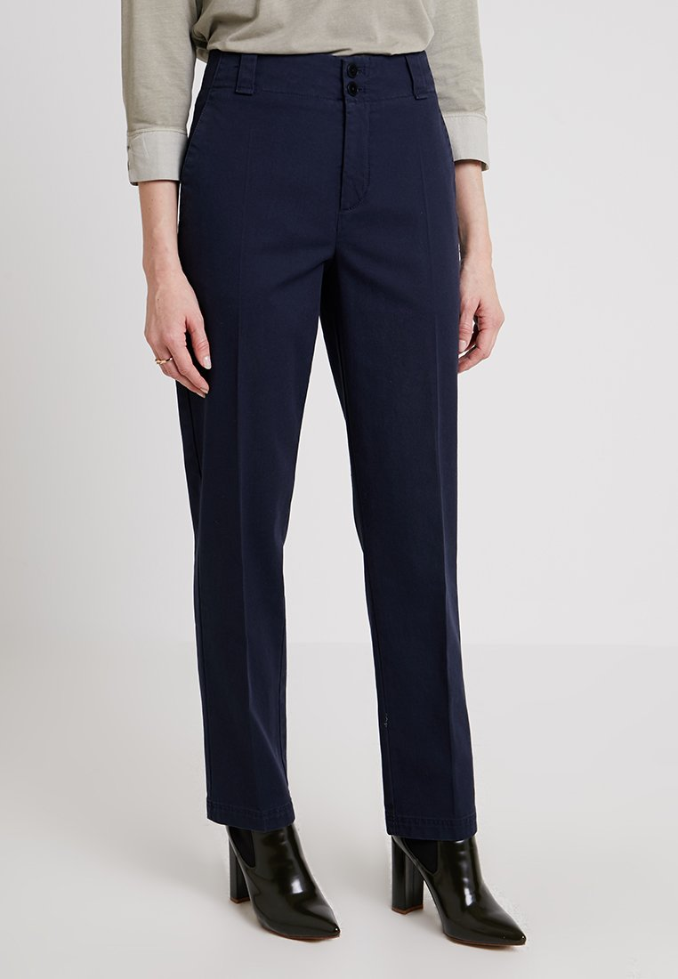 Marc O'Polo - PANTS TAPERED FIT ANKLE LENGTH - Chino - deep atlantic