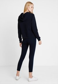 Marc O'Polo - CONTRAST PIPING - Leggings - midnight blue - 2