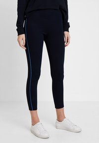 Marc O'Polo - CONTRAST PIPING - Leggings - midnight blue - 0
