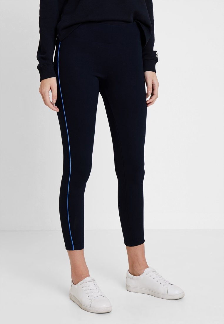 Marc O'Polo - CONTRAST PIPING - Leggings - midnight blue