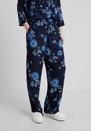 PANTS REGULAR BUT COMFY FIT WIDE - Kangashousut - mottled blue