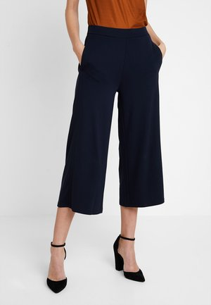 CROPPED LENGTH - Trousers - midnight blue