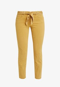 Marc O'Polo - 5 POCKET MID WAIST LEG CROP - Jeans slim fit - amber wheat - 5