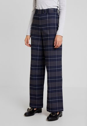 PANTS WIDE LEG HIGH RISE - Trousers - combo
