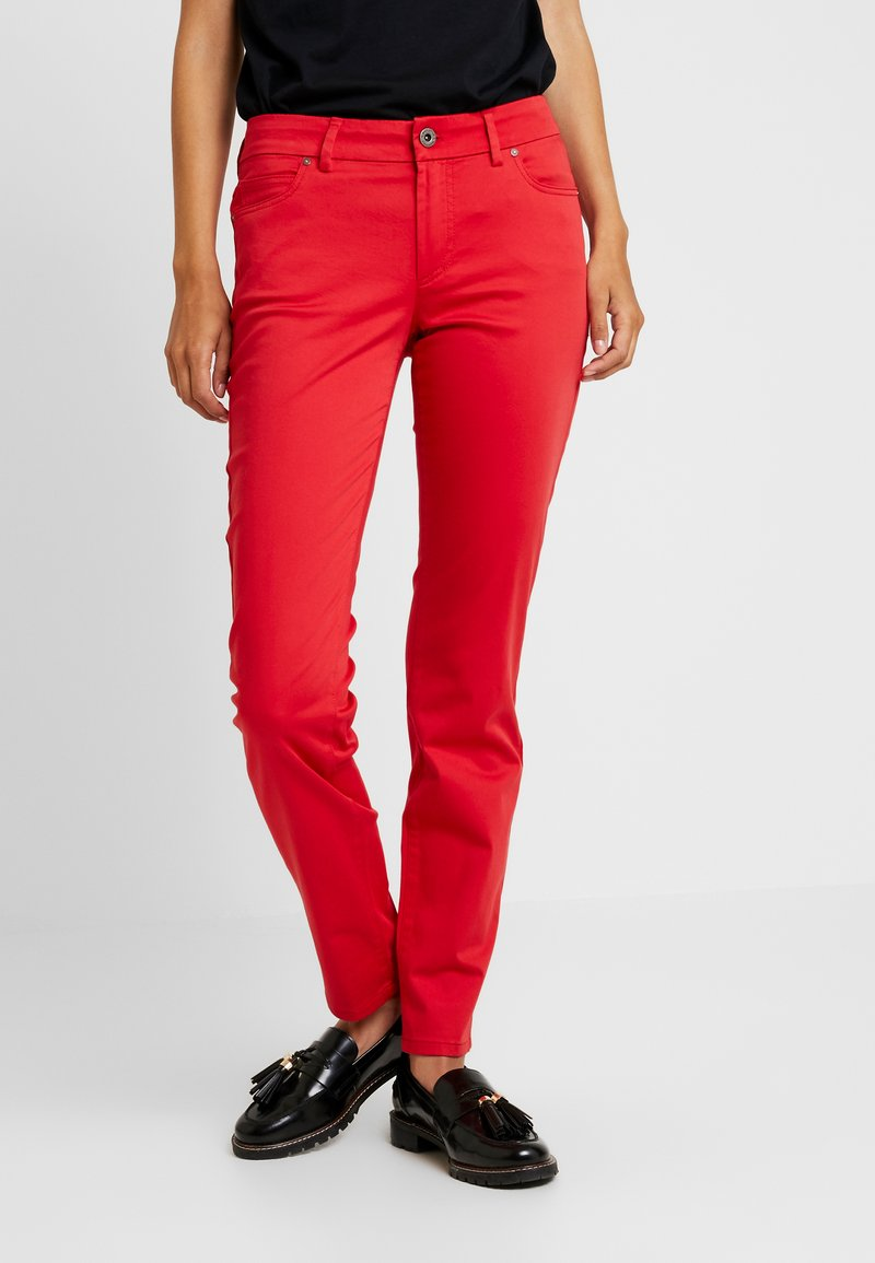 Marc O'Polo - MID WAIST - Pantalones - fresh rose hip
