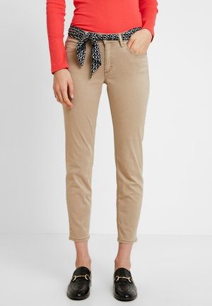 MID WAIST - Trousers - norse sand