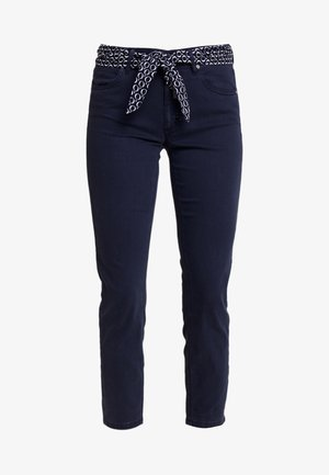 MID WAIST - Broek - midnight blue