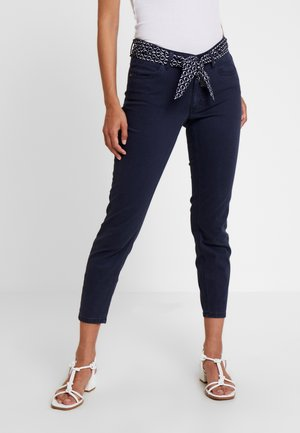 MID WAIST - Trousers - midnight blue