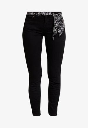 MID WAIST - Spodnie materiałowe - black