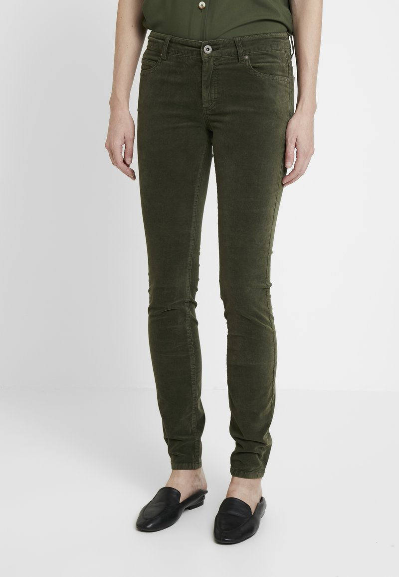 Marc O'Polo - POCKET MID WAIST SLIM LEG REGULAR LENGTH - Trousers - workers olive