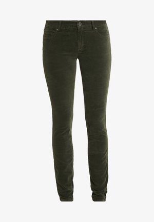 POCKET MID WAIST SLIM LEG REGULAR LENGTH - Spodnie materiałowe - workers olive