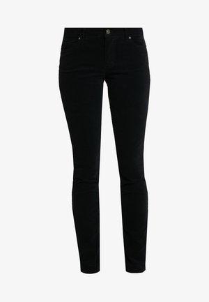 POCKET MID WAIST SLIM LEG REGULAR LENGTH - Spodnie materiałowe - black