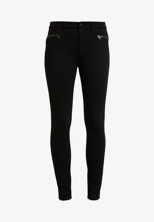 PANTS ZIPPER POCKET DETAIL - Pantalones - black