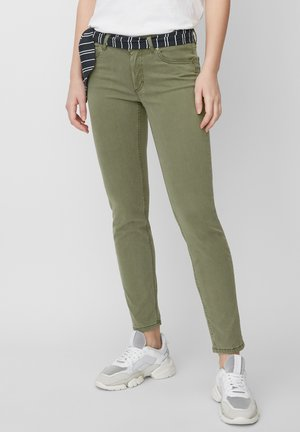 Jeansy Skinny Fit - evergreen