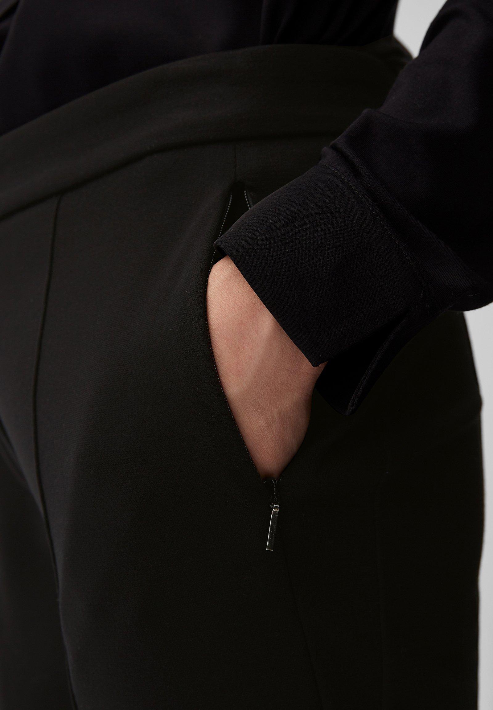 Marc O'Polo Spodnie materiałowe - black
