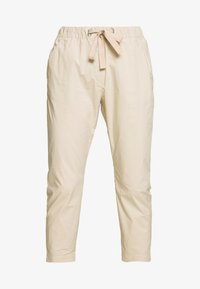 Marc O'Polo - PANTS MEDIUM WAIST TAPERED LEG DEEP CROTCH TAPE DETAIL - Trousers - feather grey - 3
