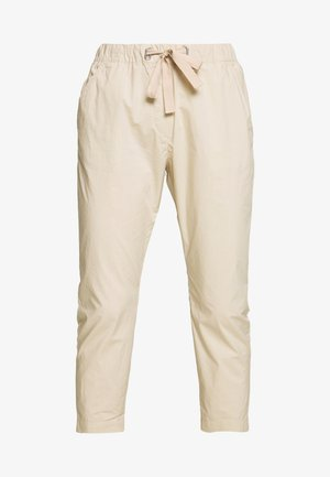 PANTS MEDIUM WAIST TAPERED LEG DEEP CROTCH TAPE DETAIL - Trousers - feather grey