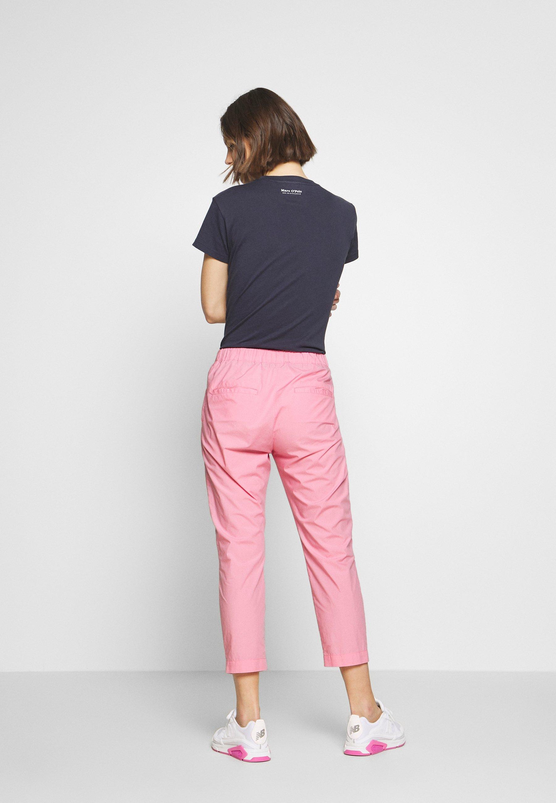 Marc O\'polo Pants Medium Waist Tapered Leg Deep Crotch Tape Detail - Stoffhose Sunlit Coral Black Friday