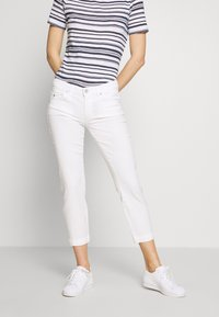 Marc O'Polo - 5 POCKET MID WAIST SLIM LEG - Trousers - white - 0