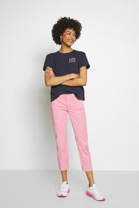 Marc O'Polo - 5 POCKET MID WAIST SLIM LEG - Trousers - sunlit coral - 1