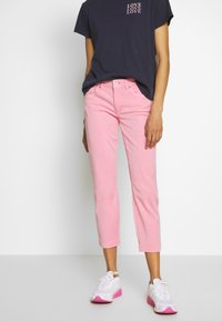 Marc O'Polo - 5 POCKET MID WAIST SLIM LEG - Trousers - sunlit coral - 0