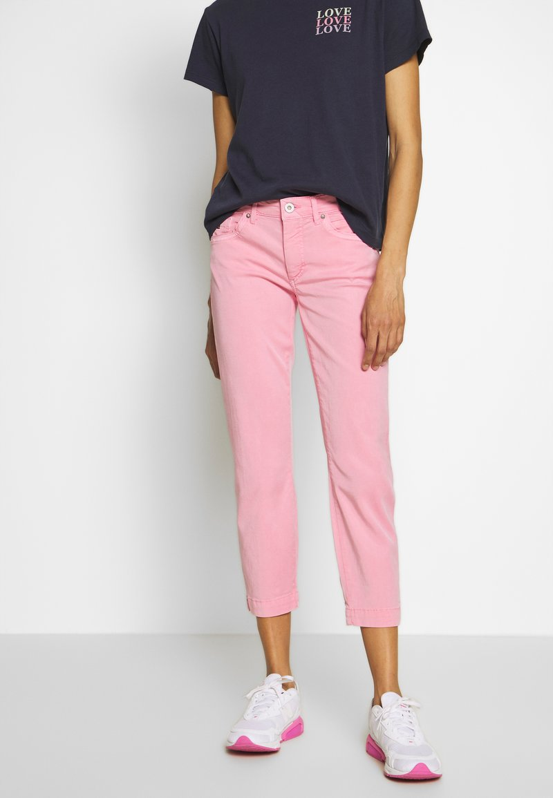 Marc O'Polo - 5 POCKET MID WAIST SLIM LEG - Trousers - sunlit coral