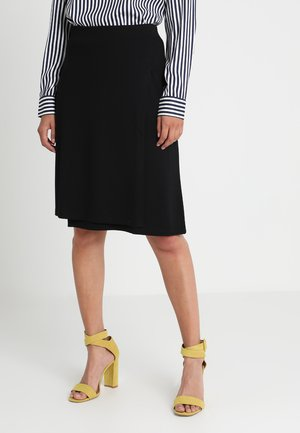 WRAP SKIRT WITH WAISTBAND - A-lijn rok - black