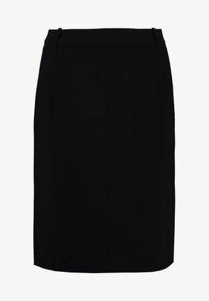 SKIRT STRAIGHT PENCIL SHAPE MODER - Spódnica ołówkowa  - black