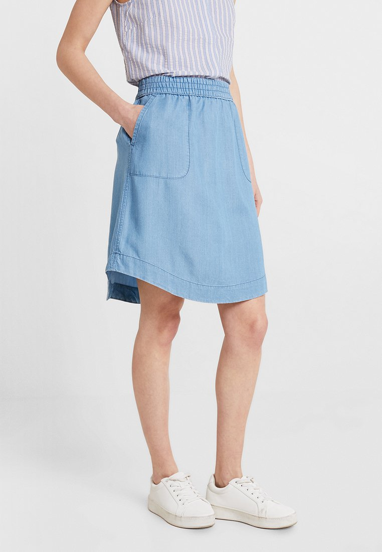 Marc O'Polo - SKIRT A-SHAPE KNEE LENGHT - A-Linien-Rock - soft drapy wash