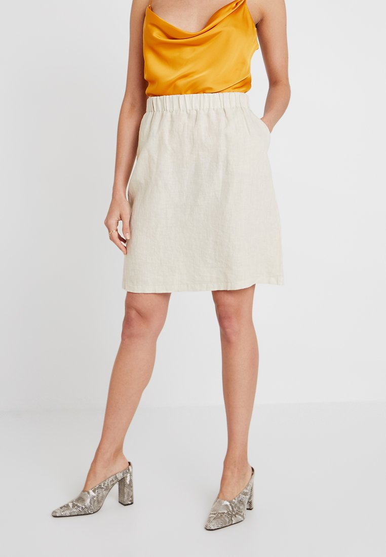 Marc O'Polo - SKIRT EASY STYLE WAISTBAND POCKETS - A-Linien-Rock - pale oyster
