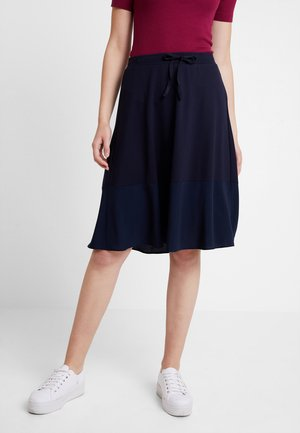 SKIRT BOTTOM CUFF - Jupe trapèze - midnight blue
