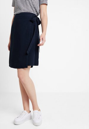 WRAP SKIRT SHORT LENGTH - A-lijn rok - blue denim
