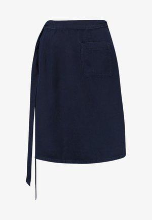 WRAP SKIRT SHORT LENGTH - Áčková sukně - blue denim