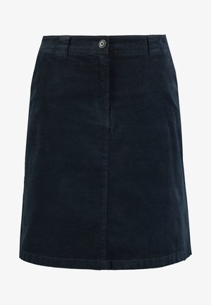 SKIRT CORDUROY STYLE CHINO DETAIL - Áčková sukně - midnight blue