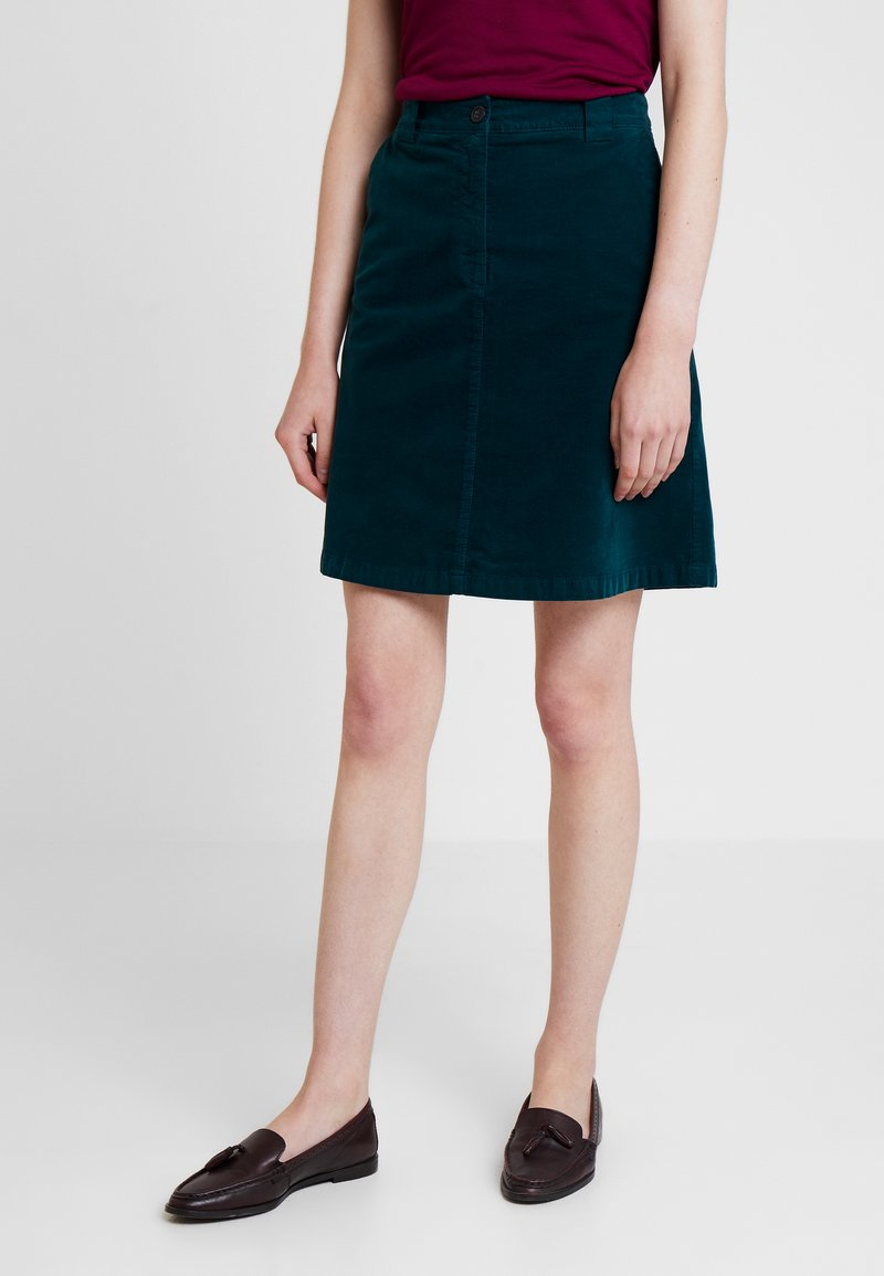 Marc O'Polo - SKIRT STYLE DETAIL - A-line skirt - dusky emerald