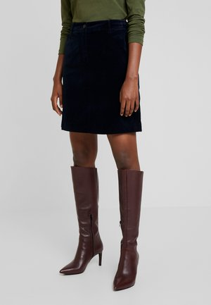 SKIRT SHORT STYLE BACKPOCKET DETAIL - A-line skirt - midnight blue