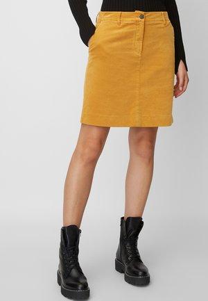 MINIROCK - A-lijn rok - yellow