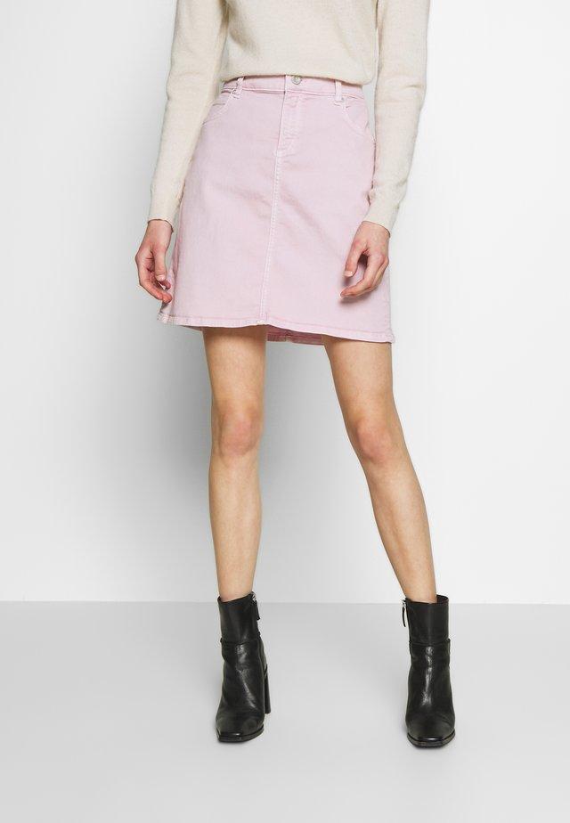 Denim skirt - bleached berry