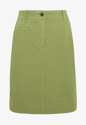 SKIRT CHINO STYLE SHORT LENGTH - A-line skirt - seaweed green