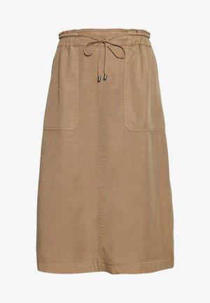 SKIRT STRAIGHT SHAPE SIDE SLITS - A-line skirt - shaded walnut