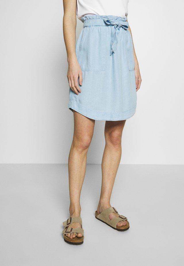 SKIRT EASY FIT BELT - A-line skirt - blue denim