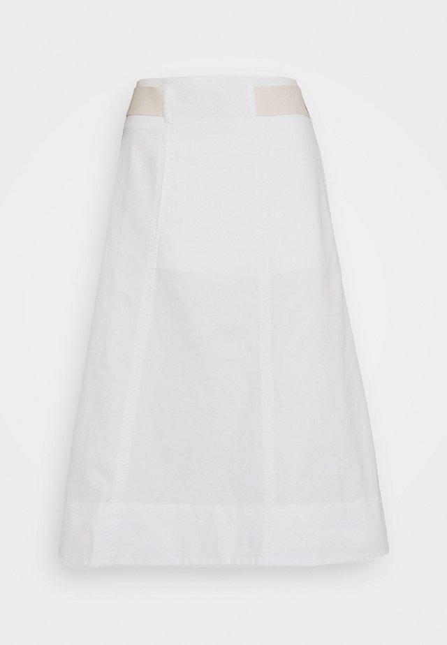 SKIRT - Áčková sukně - cloud white