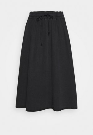 SKIRT CIRCLE STYLE JOGGING DETAIL - A-line skirt - breezy black